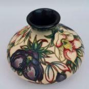 "Vintage Moorcroft Pottery Vase 6"" x 3"" tall"