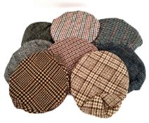 Vintage Clothing 8 Flat Cloth Caps