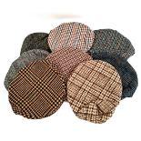 Vintage Clothing 8 Flat Cloth Caps