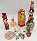Vintage Parcel of Collectables Includes Russian Matryoshka Nesting Doll