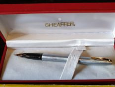 Vintage Sheaffer Fountain Pen Boxed Plus Playing Cards & Dominoes
