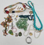 Vintage Parcel of Costume Jewellery Includes Cufflinks
