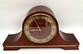 Vintage German Linden Mantel Clock Chimes By Cuckoo Clock MFG Germany