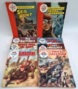Vintage 8 Assorted Combat & war Comic Magazines Includes Issue #1