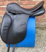 "17 1/2"" MW Spalding Brittanica Dressage Saddle - Black"