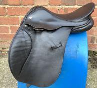 """15"""" Wide Charles Mountfort Pony GP Saddle - Black"""