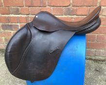 "17"" Wide County GP/Jump Saddle - Brown"