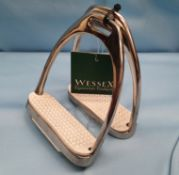 Pair of Wessex Stainless Steel Stirrup Irons