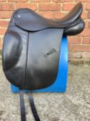 "17 1/2"" Wide Colliegate Nobility Dressage Saddle - Black"