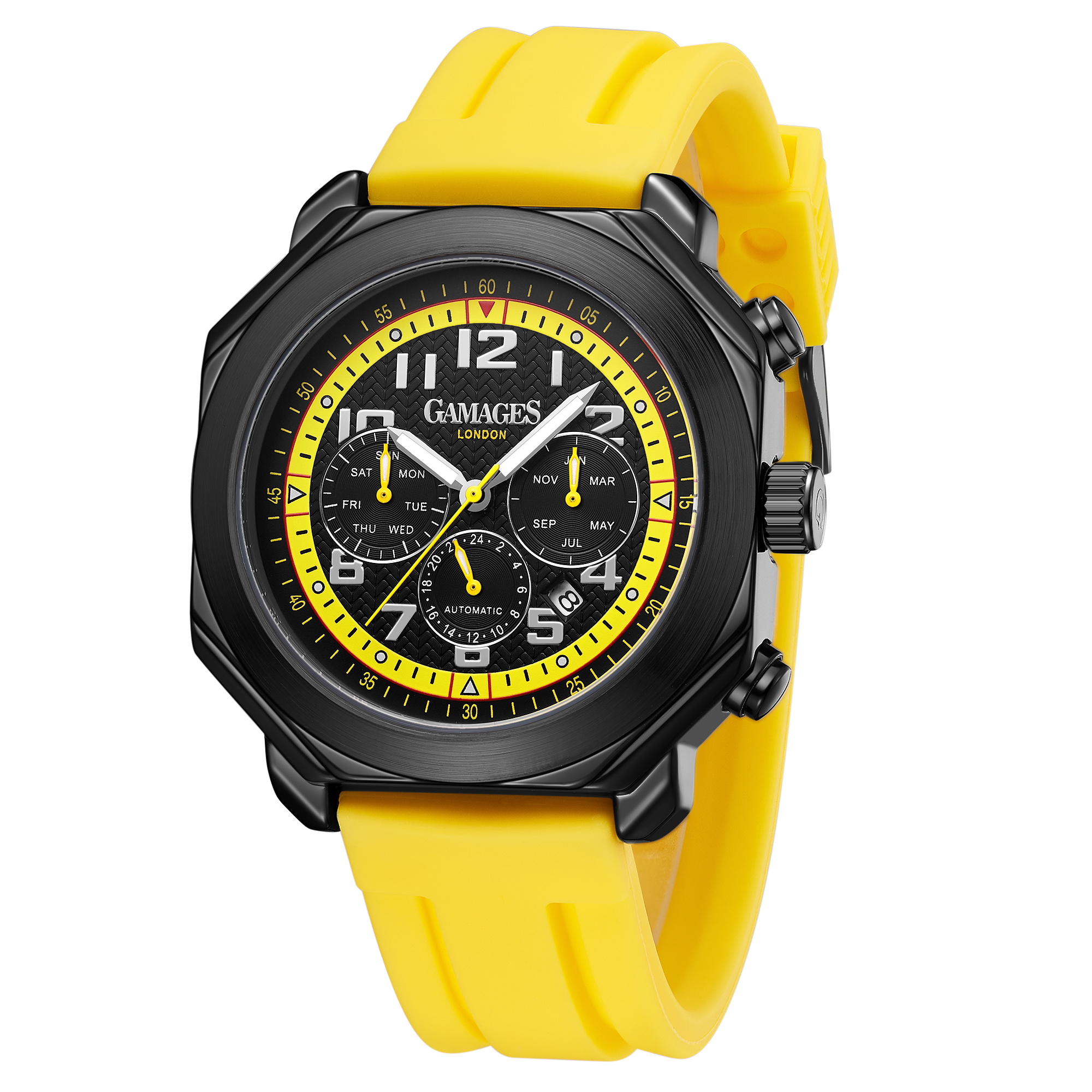 Ltd Edition Hand Assembled Gamages Contemporary Automatic Yellow – 5 Year Warranty & Free Delivery - Image 5 of 5