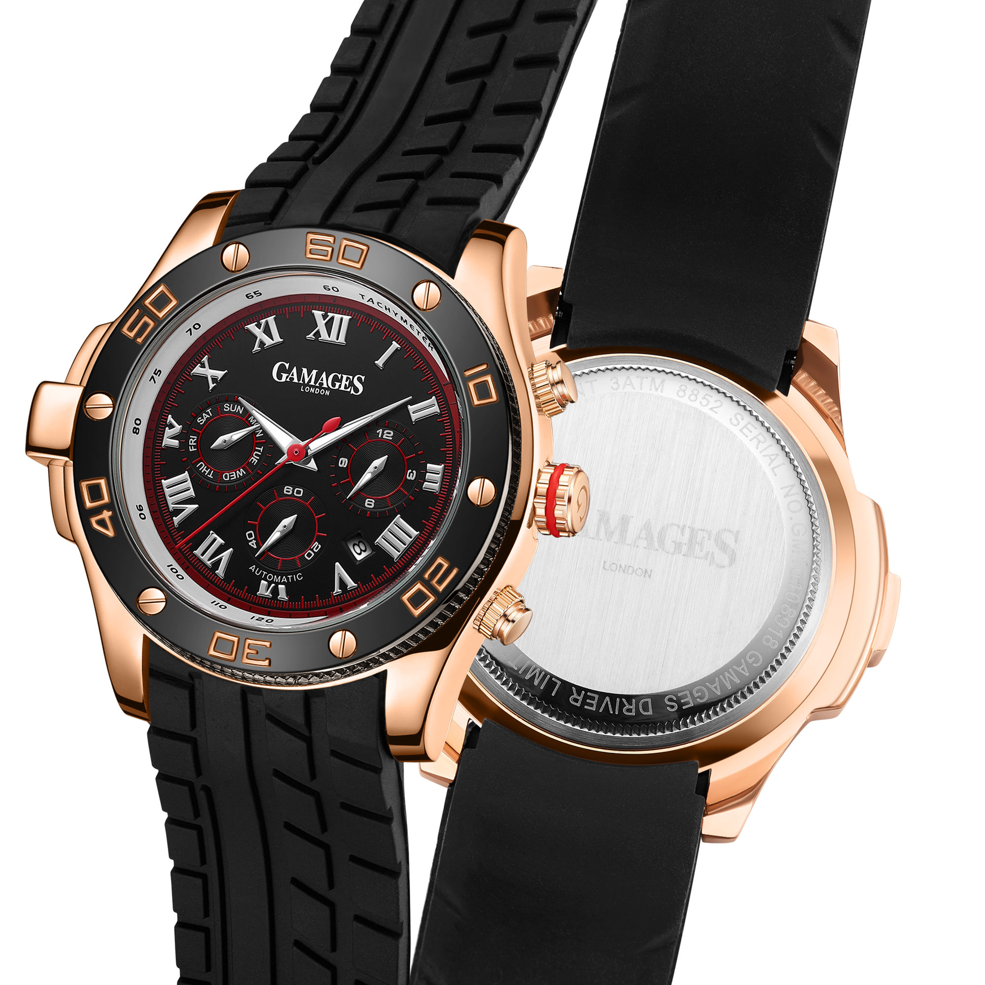 LLtd Edition Hand Assembled Gamages Driver Automatic Rose Gold – 5 Year Warranty & Free Delivery - Image 5 of 5