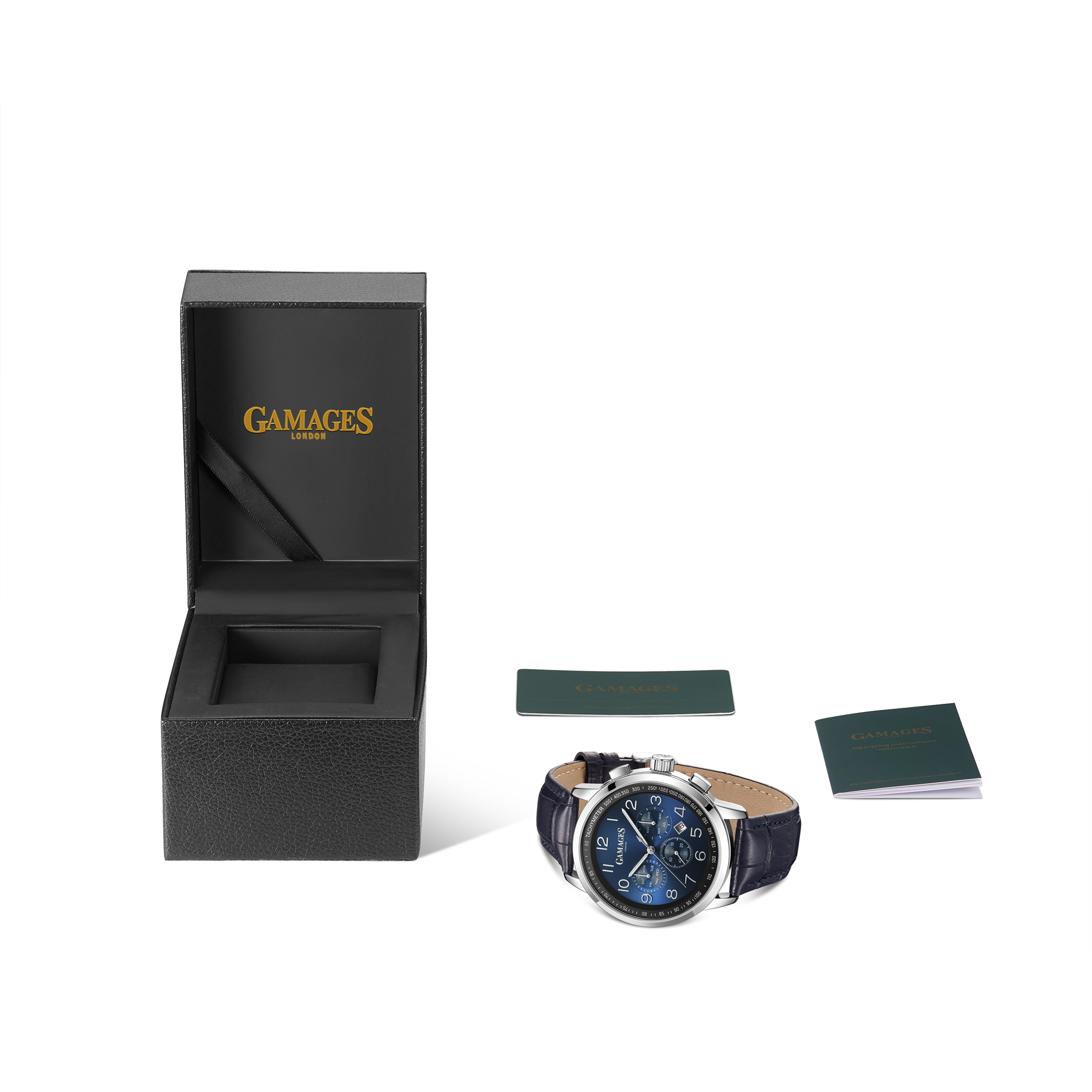 Ltd Edition Hand Assembled Gamages Classique Automatic Midnight Blue – 5 Yr Warranty & Free Delivery - Image 2 of 4