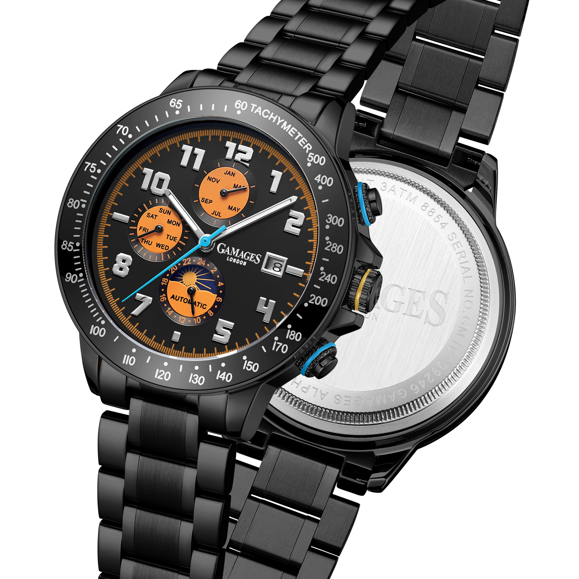 Ltd Edition Hand Assembled Gamages Alpha Automatic Black IP – 5 Year Warranty & Free Delivery - Image 5 of 5