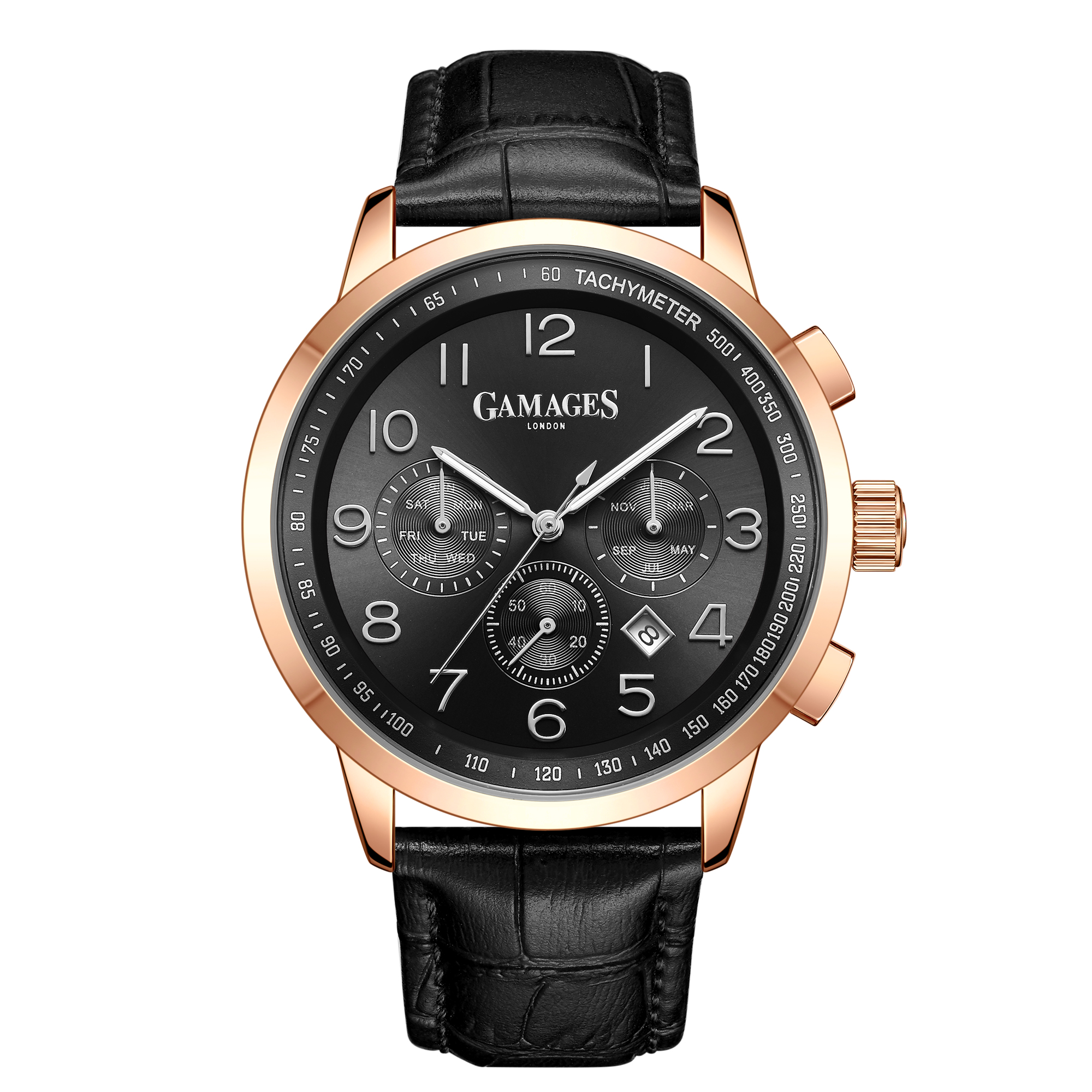 Ltd Edition Hand Assembled Gamages Classique Automatic Black – 5 Year Warranty & Free Delivery