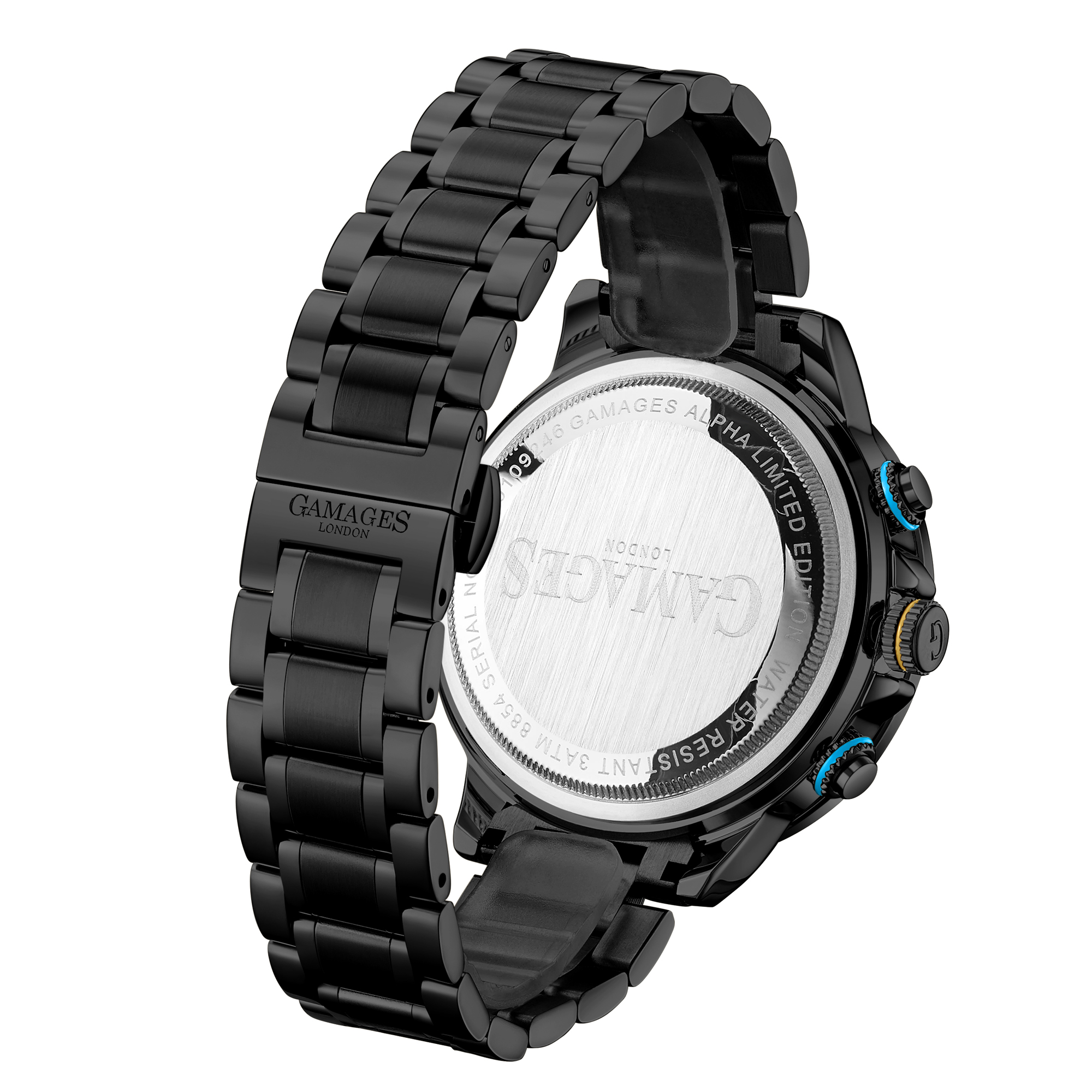 Ltd Edition Hand Assembled Gamages Alpha Automatic Black IP – 5 Year Warranty & Free Delivery - Image 2 of 5