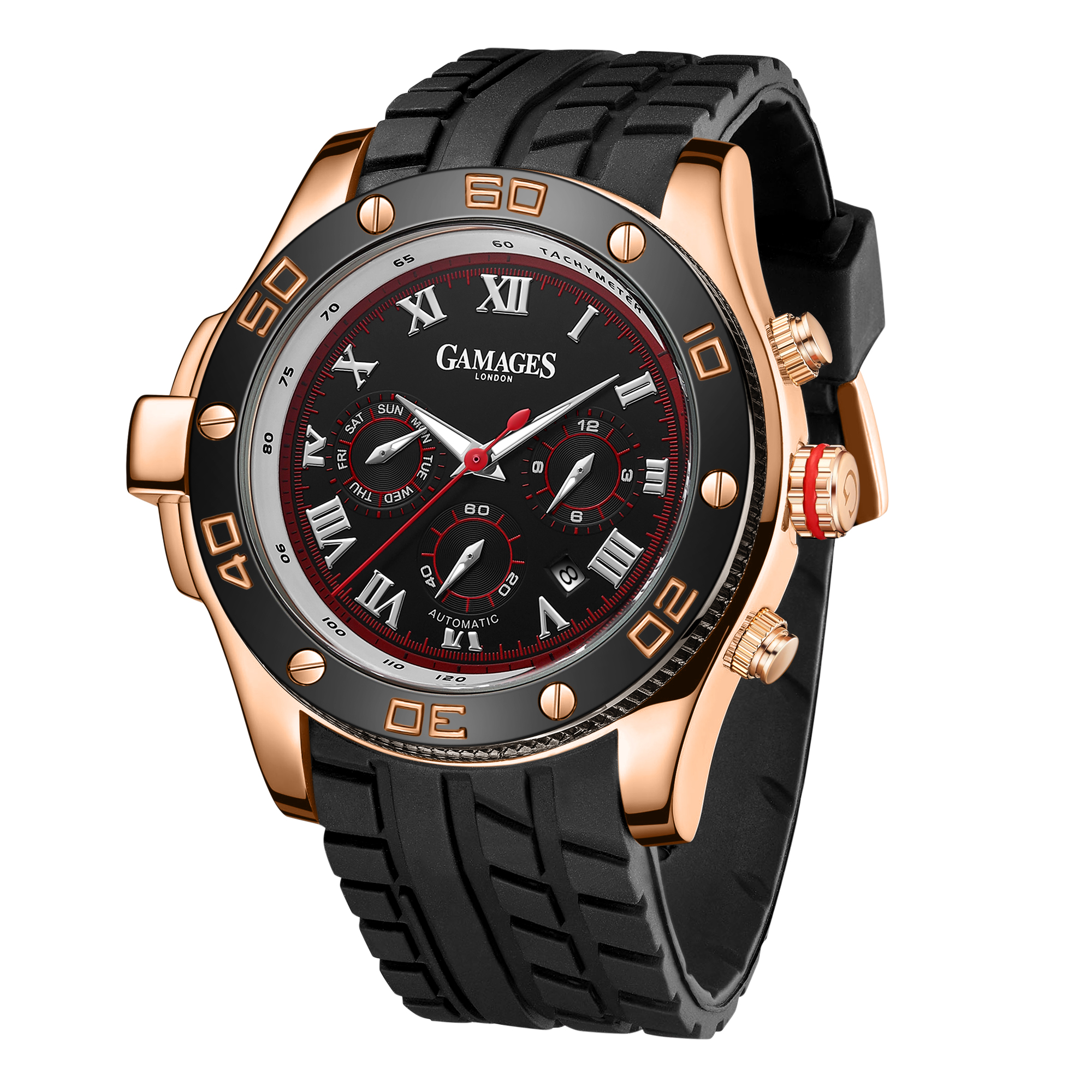 LLtd Edition Hand Assembled Gamages Driver Automatic Rose Gold – 5 Year Warranty & Free Delivery - Image 4 of 5