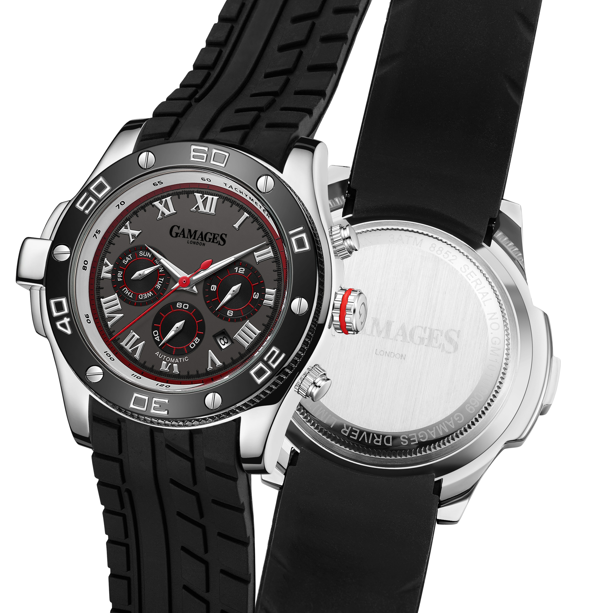 Ltd Edition Hand Assembled Gamages Driver Automatic Silver Grey – 5 Year Warranty & Free Delivery - Image 5 of 5
