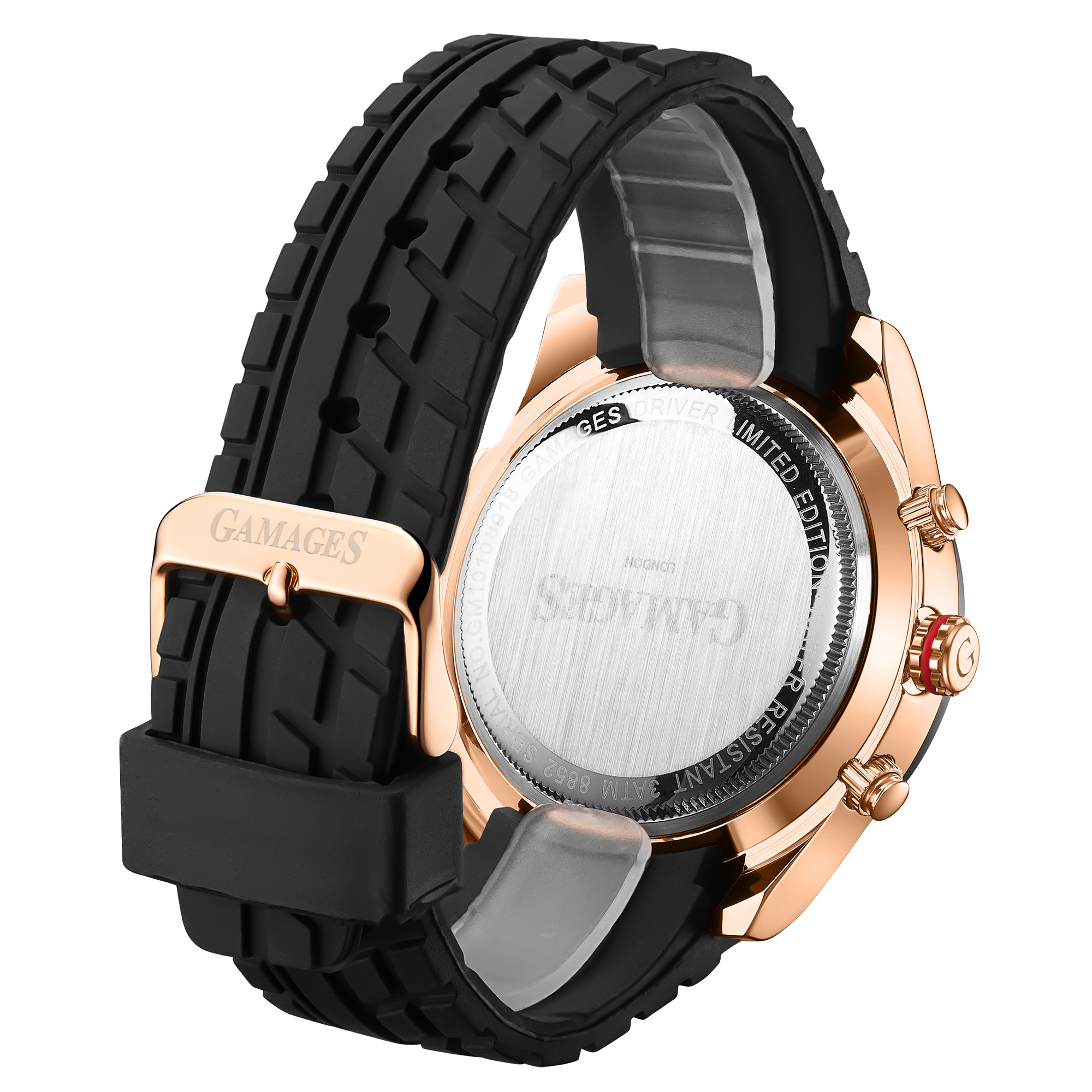LLtd Edition Hand Assembled Gamages Driver Automatic Rose Gold – 5 Year Warranty & Free Delivery - Image 3 of 5