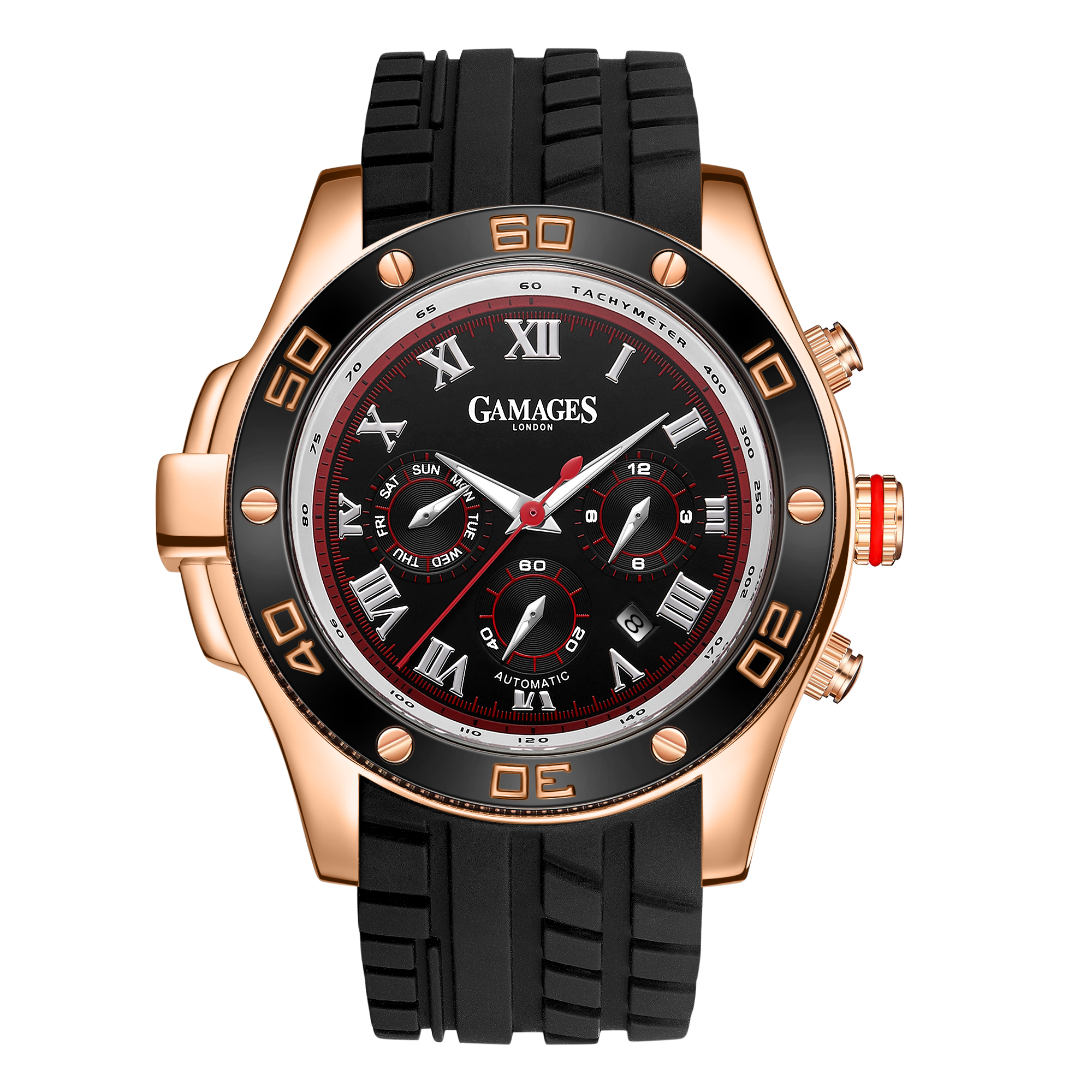 LLtd Edition Hand Assembled Gamages Driver Automatic Rose Gold – 5 Year Warranty & Free Delivery