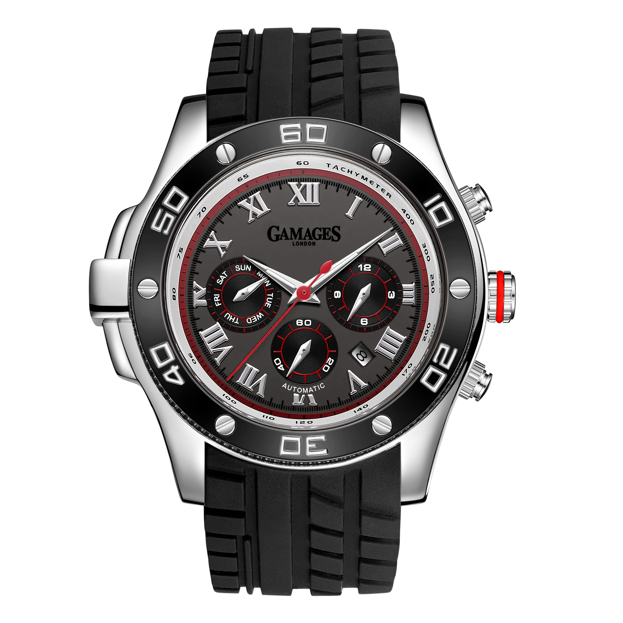 Ltd Edition Hand Assembled Gamages Driver Automatic Silver Grey – 5 Year Warranty & Free Delivery