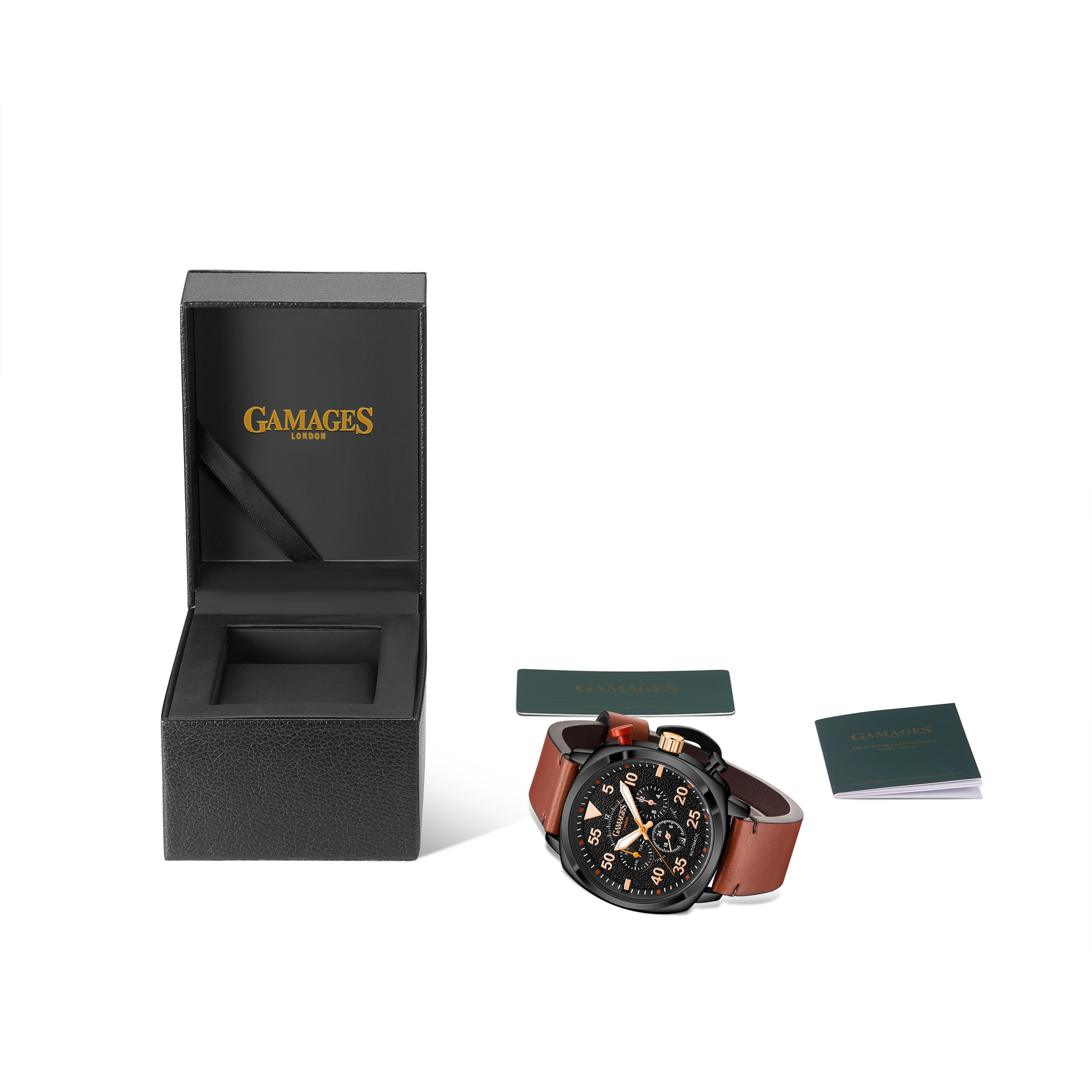 Ltd Edition Hand Assembled Gamages Aviation Automatic Black – 5 Year Warranty & Free Delivery - Image 2 of 4