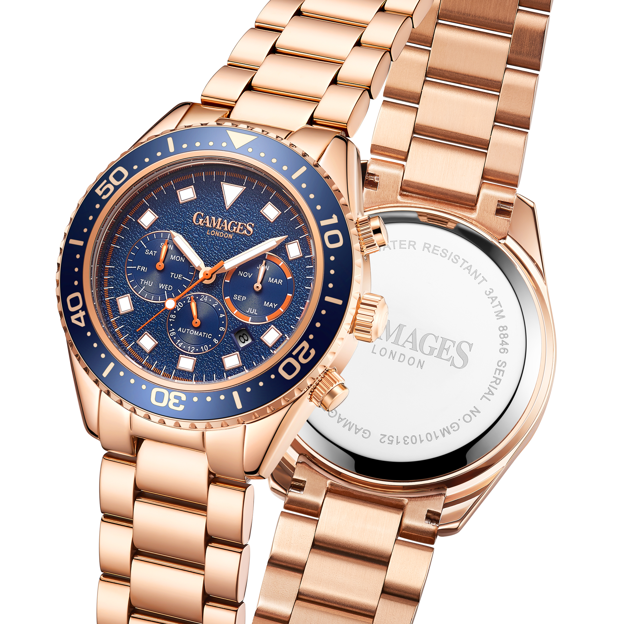 Limited Edition Hand Assembled Gamages Allure Automatic Rose – 5 Year Warranty & Free Delivery - Image 5 of 5