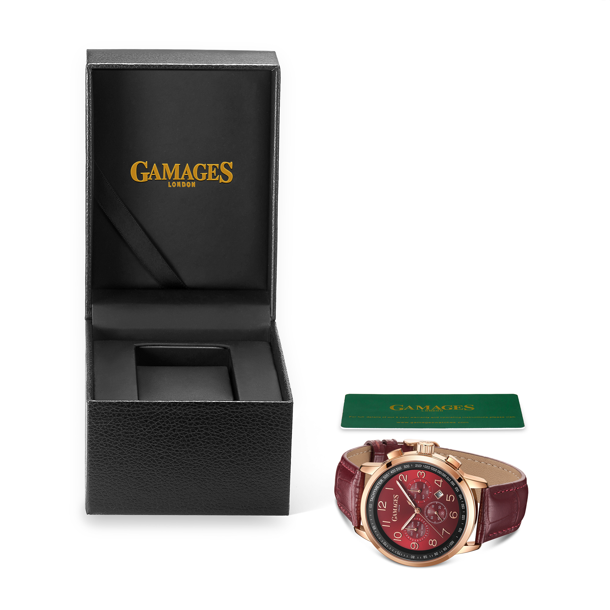 Ltd Edition Hand Assembled Gamages Classique Automatic Red – 5 Year Warranty & Free Delivery - Image 2 of 4