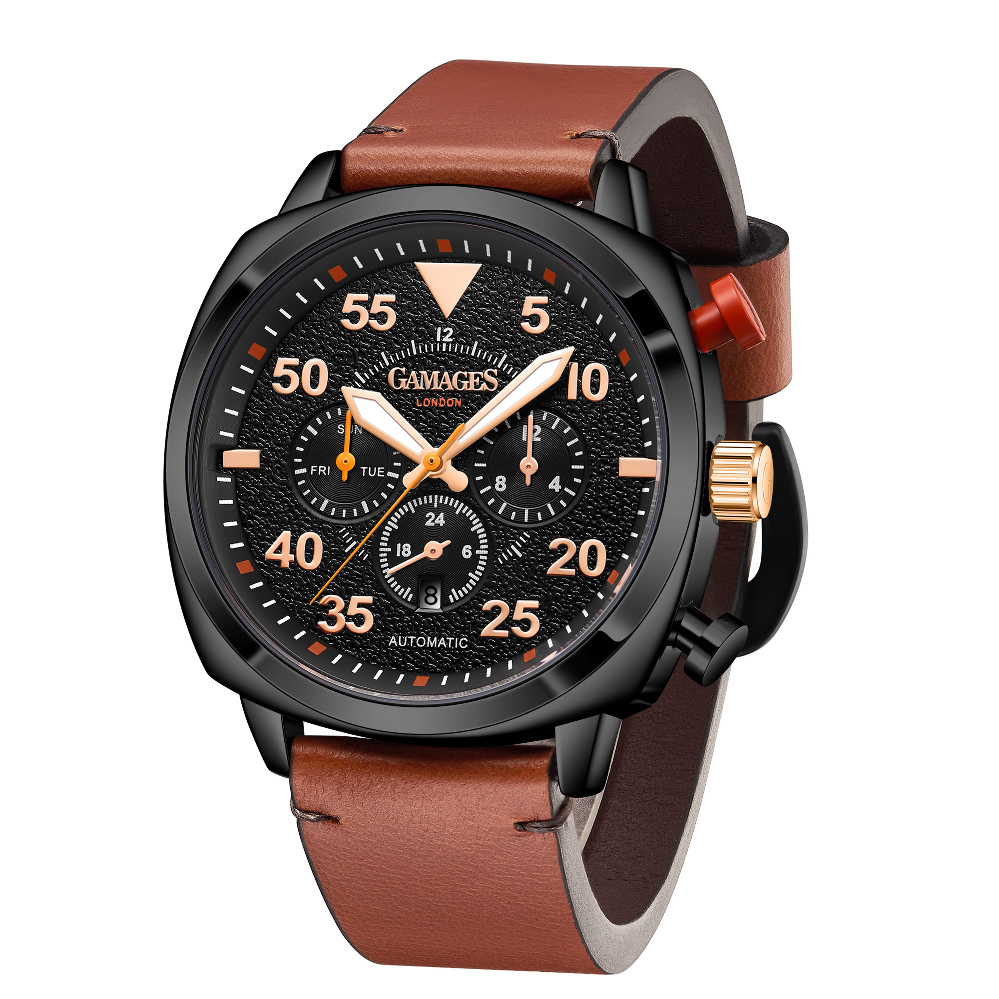 Ltd Edition Hand Assembled Gamages Aviation Automatic Black – 5 Year Warranty & Free Delivery - Image 3 of 4