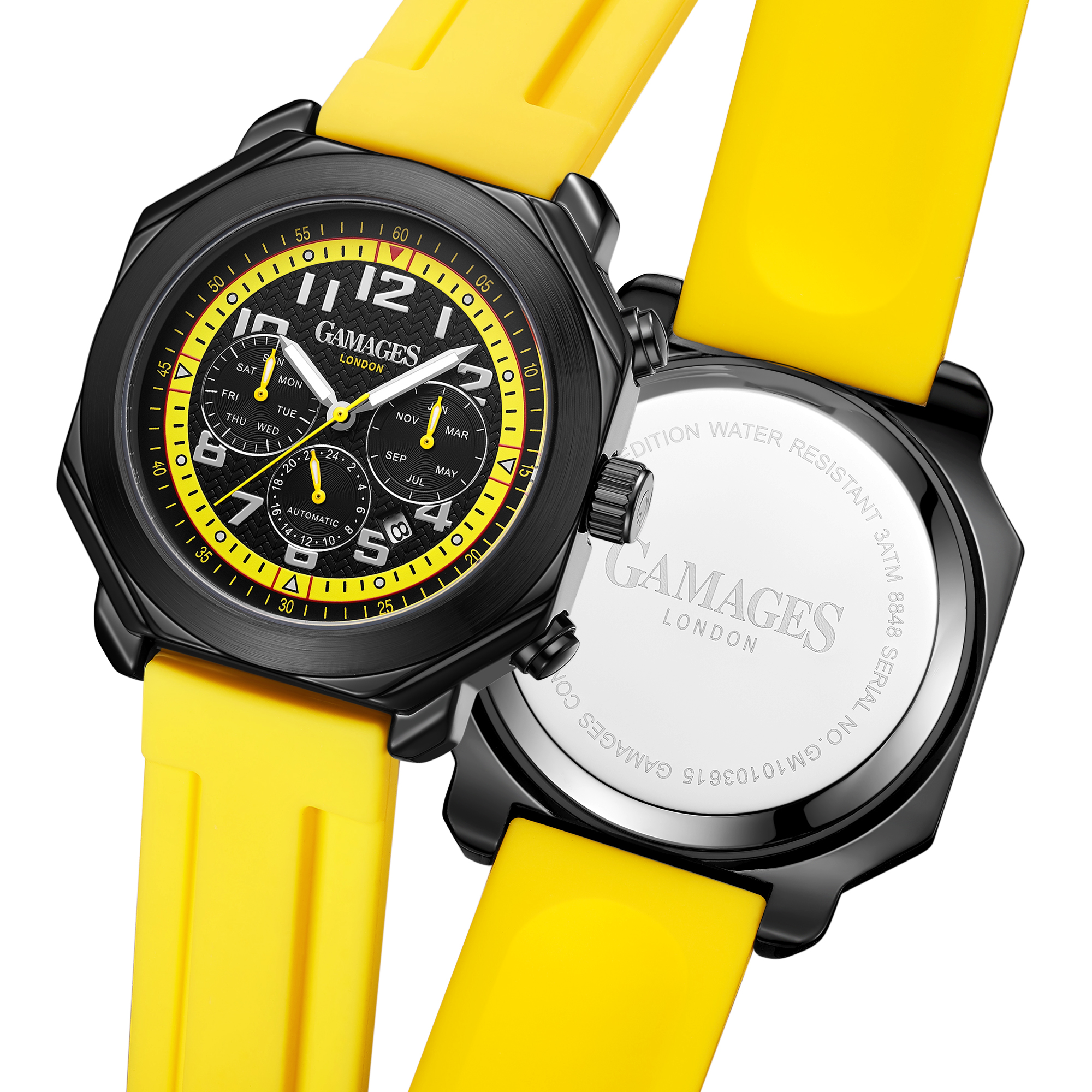 Ltd Edition Hand Assembled Gamages Contemporary Automatic Yellow – 5 Year Warranty & Free Delivery - Image 4 of 5
