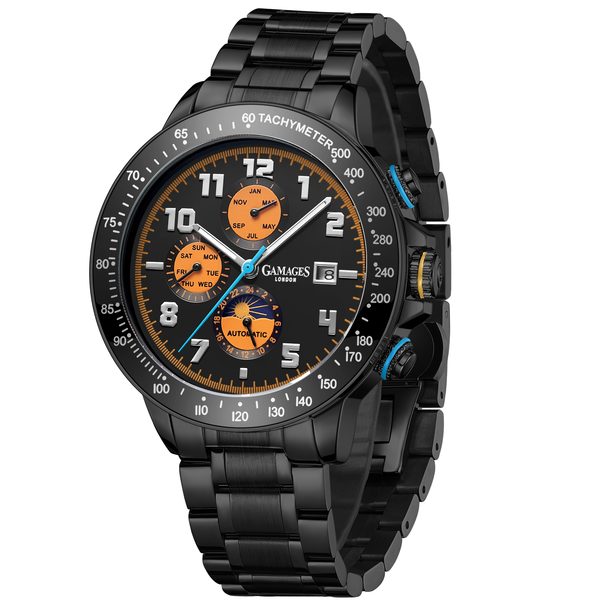 Ltd Edition Hand Assembled Gamages Alpha Automatic Black IP – 5 Year Warranty & Free Delivery - Image 3 of 5