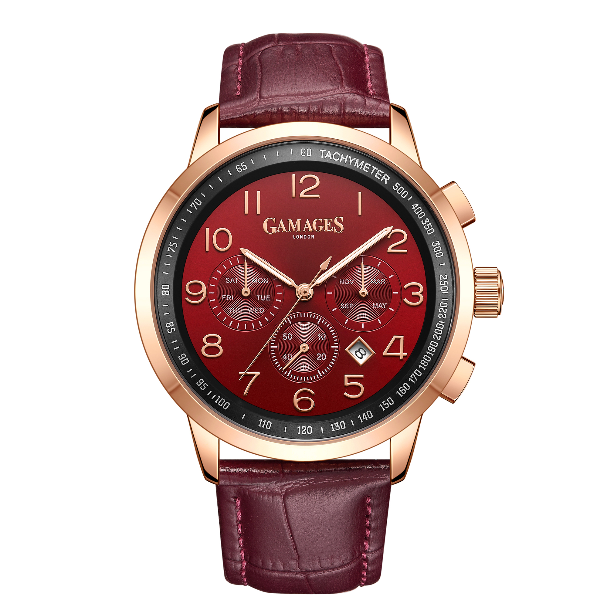 Ltd Edition Hand Assembled Gamages Classique Automatic Red – 5 Year Warranty & Free Delivery