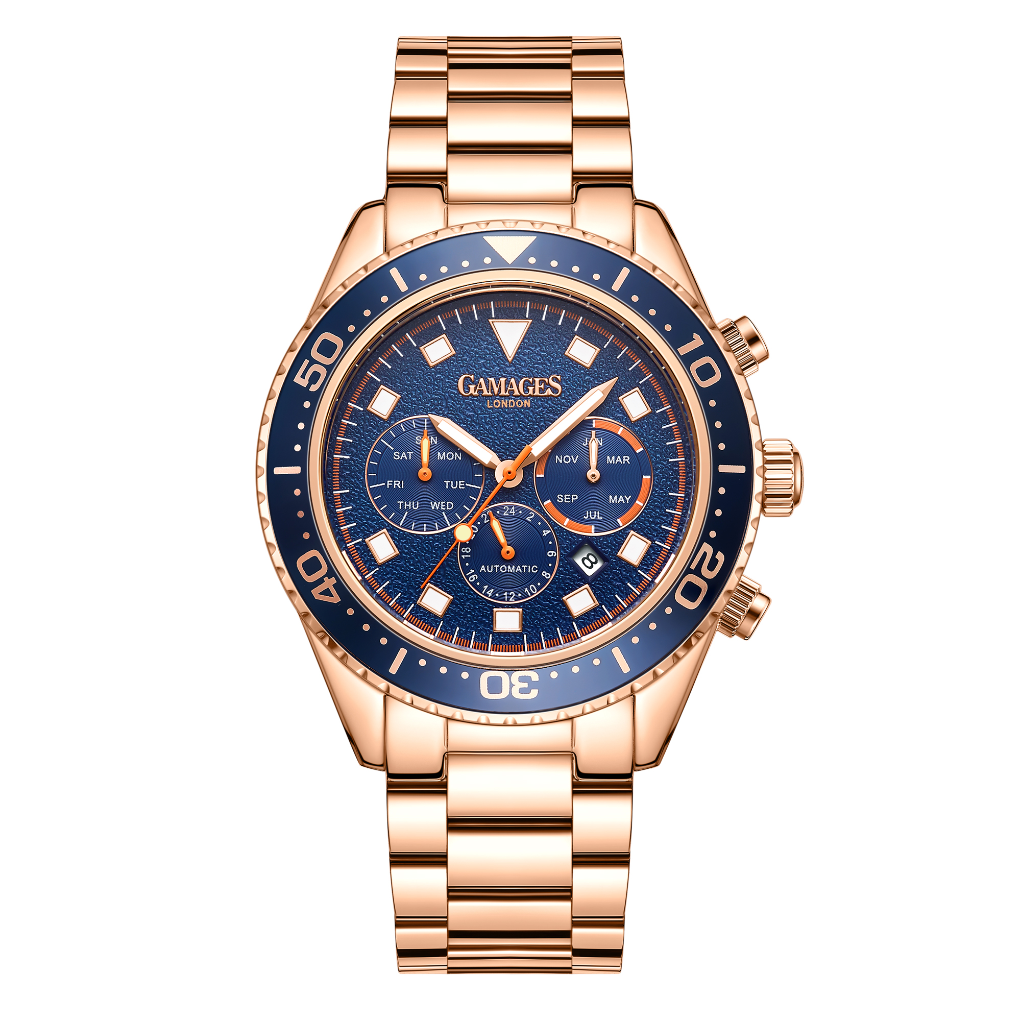 Limited Edition Hand Assembled Gamages Allure Automatic Rose – 5 Year Warranty & Free Delivery