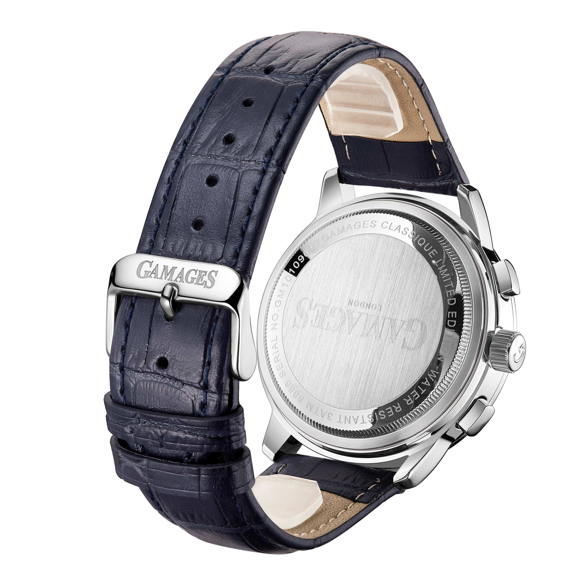 Ltd Edition Hand Assembled Gamages Classique Automatic Midnight Blue – 5 Yr Warranty & Free Delivery - Image 4 of 4
