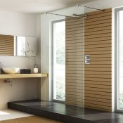 New (P36) 1400mm - 8mm - Designer Easyclean Walk Through Panel. Rrp £549.99. Easy Clean Glass ...