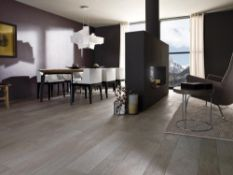 New 5.34M2 Porcelanosa Zoc Oxford Anthracite Wall And Floor Tiles. 10x44.3cm Per Tile. 0.89M2 P...