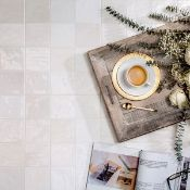 New 13.68M2 Procelanosa Ronda White Feature Tiles.20x31.6cm Per Tile. 1.14M2 Per Pack.Beyond It...