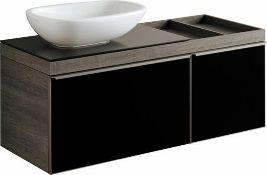 New (S201) Keramg Gerbit 1184mm Citterio Grey/Brown Vanity Unit With Shelves. RRP £2,468.99. ...
