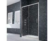New (S171) 1200mm Merlyn 8mm Sliding Shower Door. 1900mm 8mm Toughened Glass Concealed Fi x i...