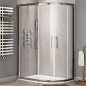 Twyfords 900 x 800mm - 8mm - Premium Easyclean Offset Quadrant Shower enclosure - Reversible.RR...