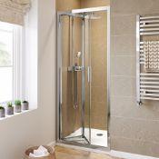 New (R119) 900mm - 6mm Elements Easyclean Bifold Shower Door. RRP £299.99. We Love This Becaus...