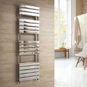 New & Boxed 1600x450mm Chrome Straight Towel Radiator Ladder Modern Bathroom. Rf1600450.Constr...