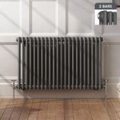 New 600x1008mm Anthracite Double Panel Horizontal Colosseum Traditional Radiator. Rca564.Rrp ?...