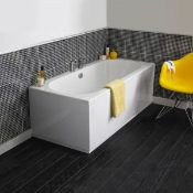 New (Y52) Cascade Supercast Double Ended 1700x700mm Bath. RRP £227.03. Cascade Supercast Doubl...