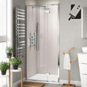 New 760mm - 8mm - Premium Easyclean Hinged Shower Door. RRP £349.99.H82600Cp. 8mm Easycl...