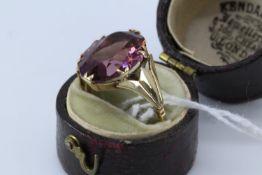 9Ct Gold & Amethyst Ring