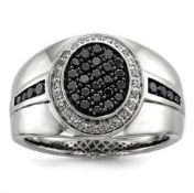 Black Circular Zircon Ring