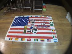 Fifa World Cup Usa 94 Coca Cola Vintage Flag