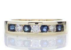 9ct Yellow Gold Channel Set Semi Eternity Diamond Ring 0.25 Carats