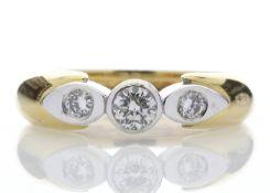 18ct Stone Set Shoulder Diamond Ring 0.41 Carats