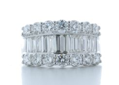 18ct White Gold Channel Set Semi Eternity Diamond Ring 2.97 Carats